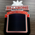 Billabong Custom Shaped Acrylic Tap Decal
