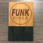Laser Etched Timber Tap Decal