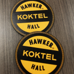 Hawker Hall Round Timber Tap Decal
