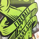Fireball Custom Shape Raised Print Tap Decal