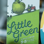 Little Green Raised Print Tap Decal