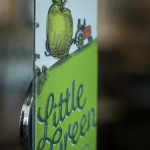 Little Green Raised Print Tap Decal Side View