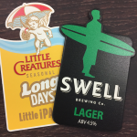 Little Creatures and Swell Custom Shaped Tap Decals